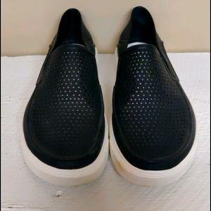 Croc  black slip ons